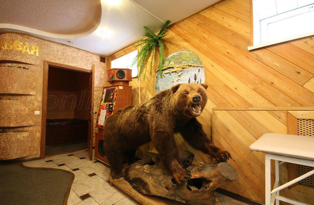 У медведя, сауна
