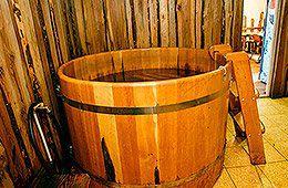 На дровах, баня